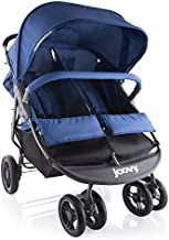 Joovy Scooter X2 Double Stroller, Side by Side Stroller, Stroller for Twins, Large Storage Basket, Blueberry