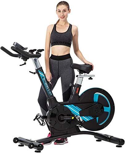 Wghz Bicicleta de Ciclismo para Interiores Bicicleta estática Bicicleta estática Cojín Suave, Pantalla LCD, transmisión por Correa Suave y silenciosa