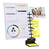 Note Tower Desktop Pro Document Holder - 2 Page Paper Holder, Easy Loading for Fast Typing, Displays Papers & Photos, Organizes Sticky Notes, Includes 50 Sheets 3'x3' Sticky Notes, Black