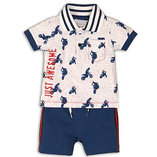 DIRKJE Ensemble Polo et Short bébé garçon - Bleu - 3 Mois