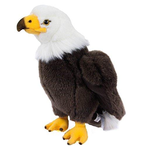Teddys Rothenburg Kuscheltier Adler Wölkchen 24 cm stehend braun/weiß/gelb Plüschadler Plüschtier