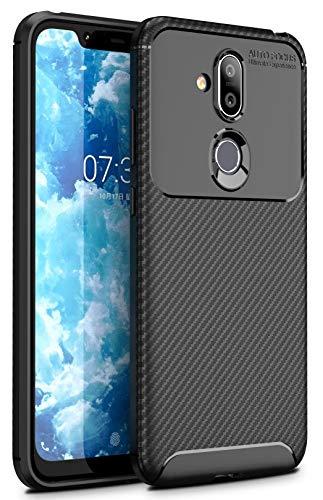 Case Collection Carbonfaser Design Hülle für Nokia 8.1 Hülle (6,18