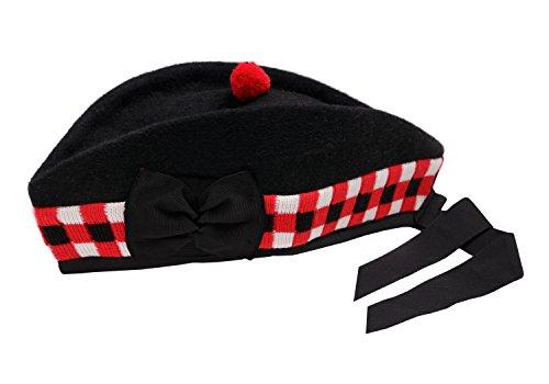 Hamilton Kilts Escoc/és Glengarry lana Gaitero Sombrero para Ej/ército Banda Falda escocesa