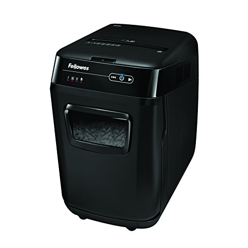 Fellowes AutoMax 200C 200-Sheet Cross-Cut Auto Feed Shredder, for Hands-Free Shredding (4653501),Black