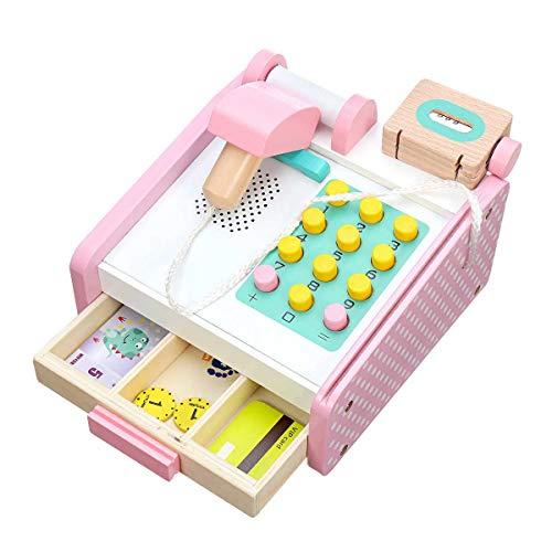 TOOGOO Kinder Elektronische Supermarkt Kasse Spielzeug Kinder Lernen Bildung So Tun Spielzeug Holz Kasse Spielzeug