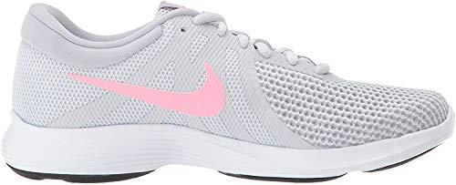 Nike Women's Revolution 4 Running Shoe, Pure Platinum/Sunset Pulse-Wolf Grey, 8 Regular US