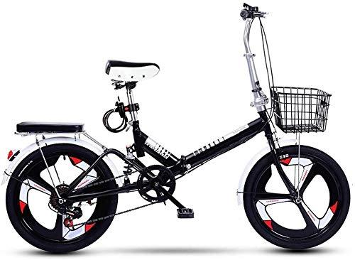 20 Zoll Faltrad Klapprad Fahrrad, Mini Faltfahrrad Fully Mountainbike für Herren und Damen Leicht Klappbare Fahrrad Fahrräder Retro Folding City Bike Bicycle Damenfahrrad Herrenfahrrad, H085ZJ