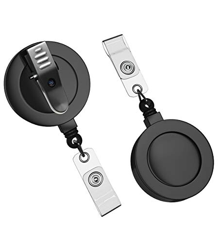 N1U 10 Pack Badge Reels Retractable with Swivel Alligator Clip - Retractable Badge Clip for Work - Durable ID Badge Clip Retractable - ID Badge Holder Retractable for Nurses - ID Card Holders - N1U