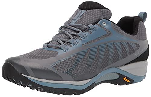 Merrell womens Siren Edge 3 Waterproof Hiking Shoe, Rock/Bluestone, 9 US