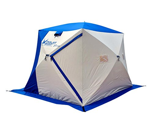 POLAR BIRD 3T Long Insulated Pop-Up 3 Person Ice Shelter (Insulated Floor Included)