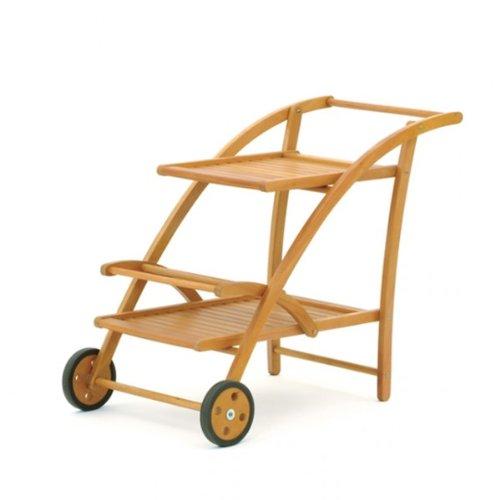 Landmann BELARDO Servierwagen Holz Teewagen Eukalyptus Hartholz