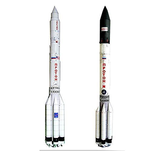 ELVVT Regalos de cumpleaños de la colección de Navidad Proton-M Heavy Lift Cohete Espacial 3D de Vehículos de Lanzamiento Puzzles 3D Modelo de Juguete de construcción de Bricolaje Hecho a Mano Modelo