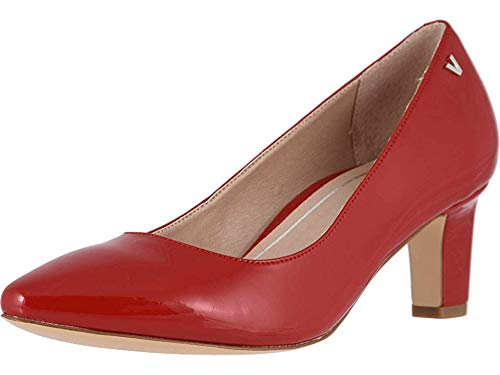 Vionic Women's Madison Mia Heels - Ladies Pumps with Concealed Orthotic Support Cherry Patent 6.5 M US