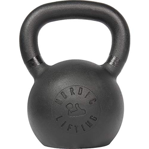 Nordic Lifting Kettlebell Made for Crossfit & Gym Workouts - Real Cast Iron for Strength Training 40...