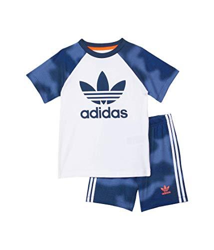 adidas Shorts Tee Set (Infant/Toddler) White/Crew Blue/Solar Red/Crew Blue/White/Solar Red 6 Months