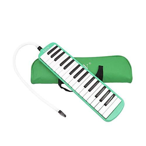 SM SunniMix Melodica 32-Noten Melodika Musikinstrument mit Tragetasche und Mundstück für Kinder - Grün