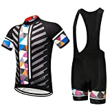 Men's Bike Clothing Set Cycling Jerseys Road Bicycle Shirts Kit + Bib Shorts Quick-Dry Full Zipper Riding Clothes