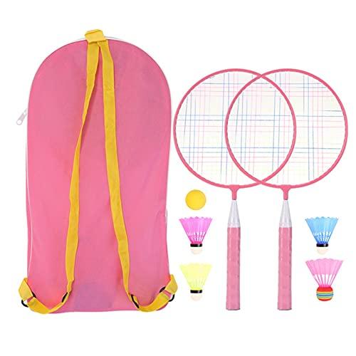 Set de Raquetas de Bádminton Raqueta de bádminton para niños niños bádminton Raqueta practicable Profesional Raqueta de Raqueta para niños Interior/al Aire Libre Juego de Deporte para Interior al Ai