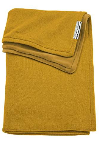 Meyco 2754023 Ledikantdeken knit basic velvet, 100x150 cm, okergeel