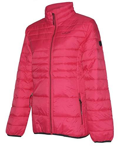 Kjelvik Damen Steppjacke pink Damenjacke Herbst Winter Jacke Übergang Übergröße (40)