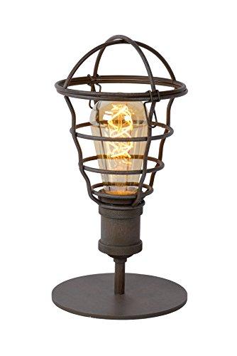 Lucide 45556/01/97 Zych Lampe de Table, Métal, E27, 60 W, Rouille, 14 x 14 x 29 cm