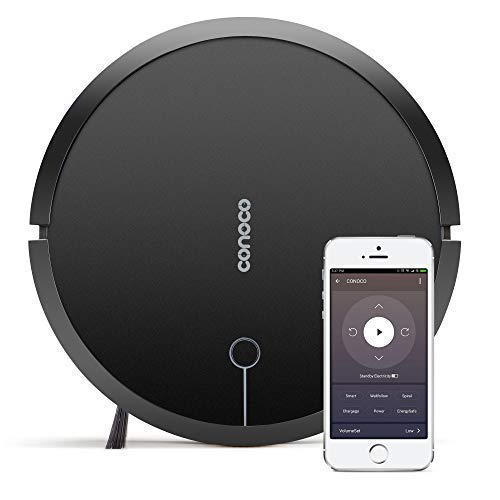 Check Out This CONOCO 1705 Robotic Vacuum Cleaner with Strong Suction, for Low-Pile Carpet, Hard Floor, Wi-Fi Connected