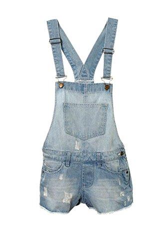AEL Neue Mädchen Kinder Denim Latzhose Outfit Shorts Kleid Overall Party Größe 3-14 Jahre