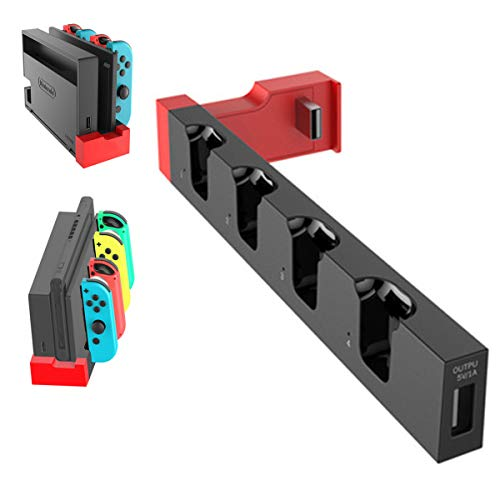 Vikisda Nintendo Switch 充電スタンド Joy-Con 左/右 ハンドル 充電 ホルダー 4台同時充電 ニンテンドースイッチ ジョイコン コントローラー