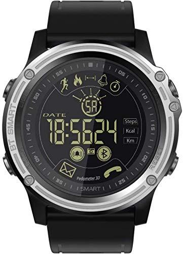 TYUI IP68 impermeable reloj inteligente luminoso para hombre, reloj deportivo de seguimiento de la aptitud información, recordatorio de cronómetro compatible con teléfonos Android e IOS