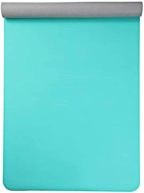 Naturkautschuk Yoga Matte Rutschfeste Tuch Handtuch 1.5mm Falten Reise tragbare Sport Fitness Yoga Matte 183  68 cm (Emerald grün)