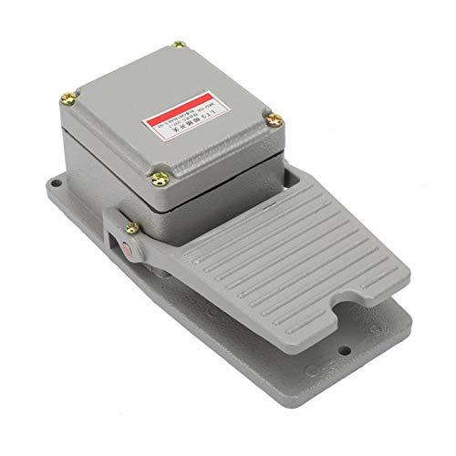 LANTRO JS - Interruptor de pedal de control de pie LT3 Pedal antideslizante operado con encendido y apagado Controlador de pedal AC 380V 220V Carcasa de aluminio antideslizante Pedal momentáneo