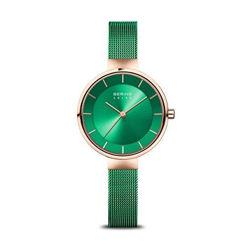 BERING Reloj Analógico para Mujer de Energía Solar con Correa en Acero Inoxidable 14631-Charity