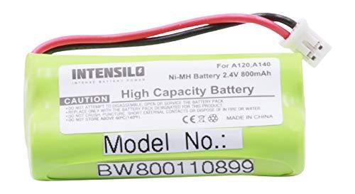 INTENSILO NiMH batería 800mAh (2.4V) para teléfono Fijo inalámbrico Siemens Gigaset AL145 Duo, AL14H, AS14 por V30145-K1310-X359.