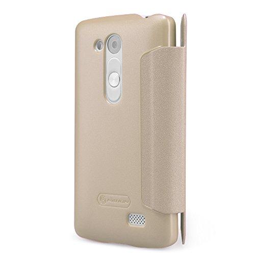 Nillkin LGD295-Sparkle-Golden glänzende Leder Tasche für LG L Fino D295 Gold