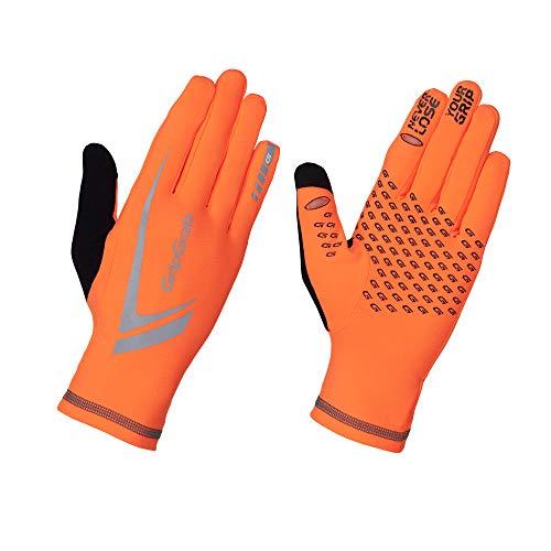 GripGrab Running Expert Hi-Vis Winter Touchscreen Handschuh Guante, Unisex Adulto, Orange, Large
