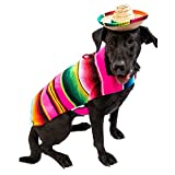 Baja Blanket Factory - Mexican Dog Sweater Poncho Hallowen Costume - Dog Clothes for Small or Big Dogs