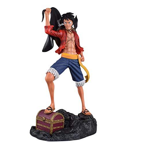 QWYU 60 cm Gk Figura de Acción Oversize Mono D Luffy 1/4 Anime Pvc Colección Modelo Juguete Exquisito Para Niños Regalo Figma Estatua