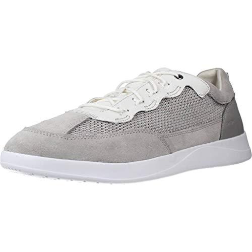 Geox Herren U KENNET A Sneaker, Grau (Lt Grey/White C1303), 40 EU