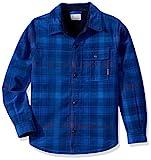 Columbia Boys' Big Windward Sherpa-LinedShirt Jacket, Super Blue Plaid, X-Large