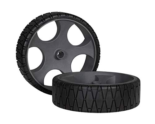 """Wilderness Systems 12"""" No-Flat Wheels, Pair - for Heavy Duty Kayak Cart, Black -  8070173"""