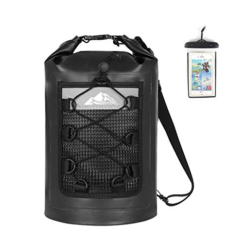 HEETA Waterproof Dry Bag for Women Men(Upgraded Version), 5L/ 10L/ 20L/ 30L Roll Top Lightweight Dry...