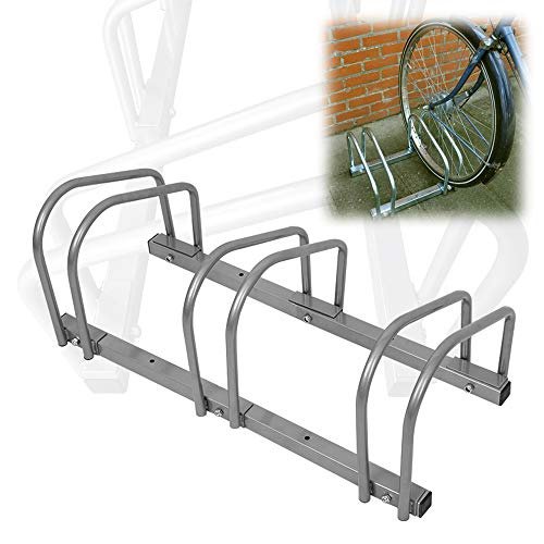 Aufun Fahrradständer Aufstellständer Fahrrad Ständer Boden Wand Montage Metall Platzsparend (Für 3 Fahrräder)
