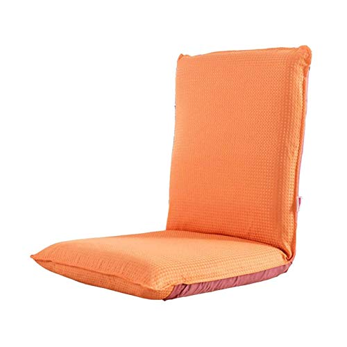 Sofa Chair Recliner Armchair Collapsible Beanbag Chairs Bedroom Bay Window Armchair Bearing 300 Pounds of Steel Skeleton Washable (Color : Orange)