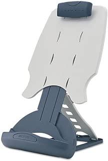 Kensington 62058 Insight Adjustable Desktop Copyholder, Plastic, Holds 50 Sheets, Gray/Dark Blue