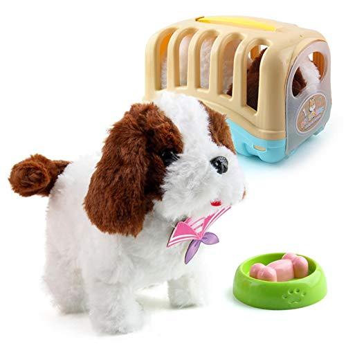 Elektronisches Haustier Plüsch Hund | Nette Simulation Interaktives Welpenkaninchen | Kinderspielzeug Walking Barking Tail Wagging Stretching | Geburtstagsgeschenke für Kinder