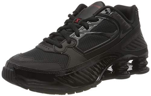 Nike Women's Shox Enigma Casual Shoes (8.5, Black/Black/Gym Red)