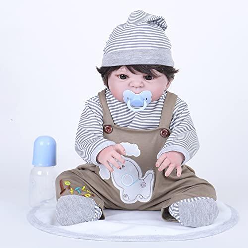 TTWLJJ Muñeca de simulació 55 Cm Renacer Muñeca Suave Muñeca De Goma Vinilo bebé Dulce niña Bebé Regalo de cumpleaños