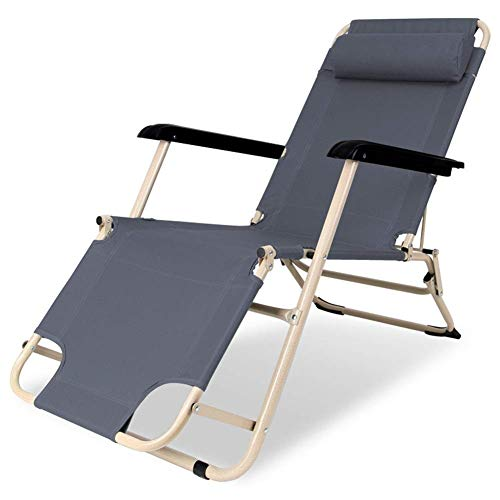 Tumbona reclinable y plegable para jardín, cama de camping al aire libre, portátil, ligera, tela InOxford, para playa, patio, jardín, camping, al aire libre, color azul
