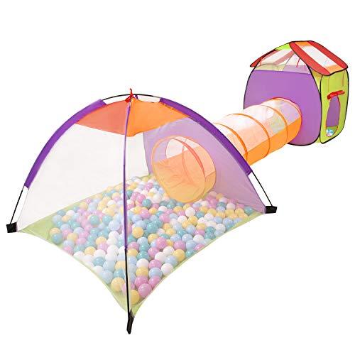 Selonis 3En1 Tente De Jeux avec Tunnel Piscine À Boules avec 100 Balles pour Enfants,...