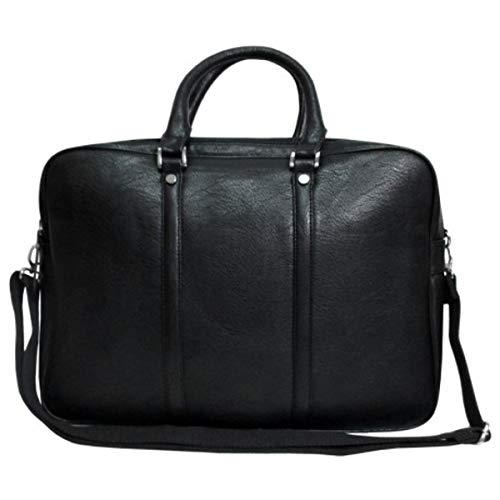 JOSVIL Bolso portadocumentos o para portatiles piel sintética negro. Con un diseño magnifico para ir a trabajar y hacer tus dias laborales comodos y prácticos.